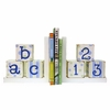 ABC 123 Bookends in Blue & Green