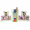 On Sale ABC 123 Bookends in Pink & Chocolate