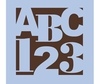 ABC 123 Squared Paint by Number Wall Mural