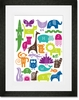 ABC Animalia Rainbow Framed Art Print