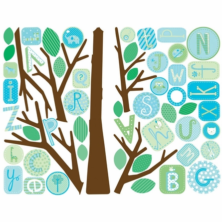ABC Blue Tree Peel & Stick Wall Decal