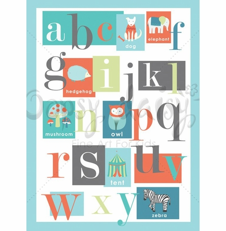 ABC Boy Canvas Wall Art