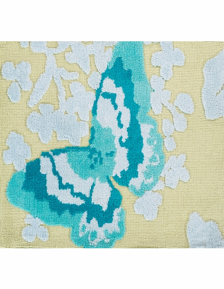 Abigail Butterfly Rug in Aloe