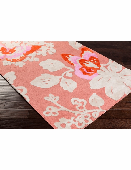 Abigail Butterfly Rug in Carnation