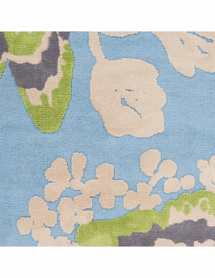 Abigail Butterfly Rug in Sky Blue