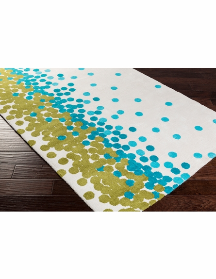 Abigail Confetti Rug in Ivory and Aqua