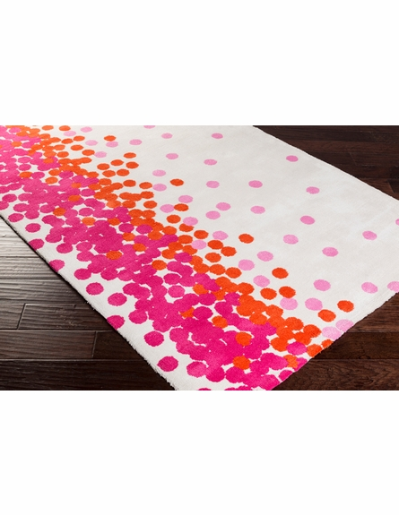 Abigail Confetti Rug in Ivory and Magenta