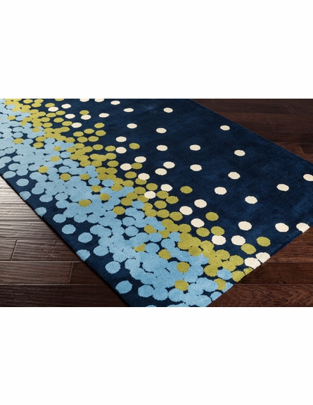 Abigail Confetti Rug in Navy and Moss