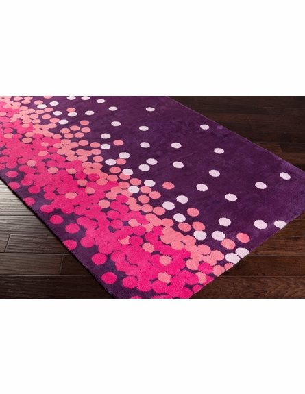 Abigail Confetti Rug in Plum and Hot Pink