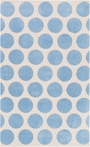 Abigail Dots Rug in Sky Blue