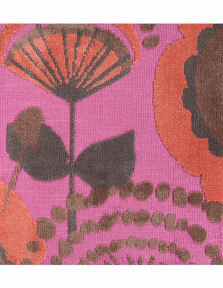 Abigail Floral Rug in Carnation and Coral