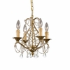 Abigail Four Light Gold Leaf Mini Chandelier II