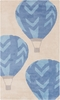 Abigail Hot Air Balloon Rug in Beige and Cobalt