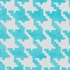 Abigail Houndstooth Rug in Sky Blue