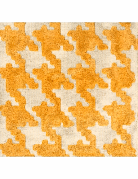 Abigail Houndstooth Rug in Yellow