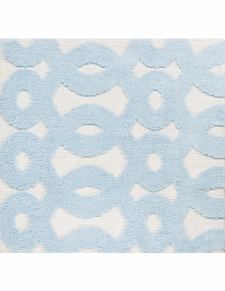 Abigail Loops Rug in Sky Blue