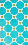 Abigail Octagon Rug in Sea Foam