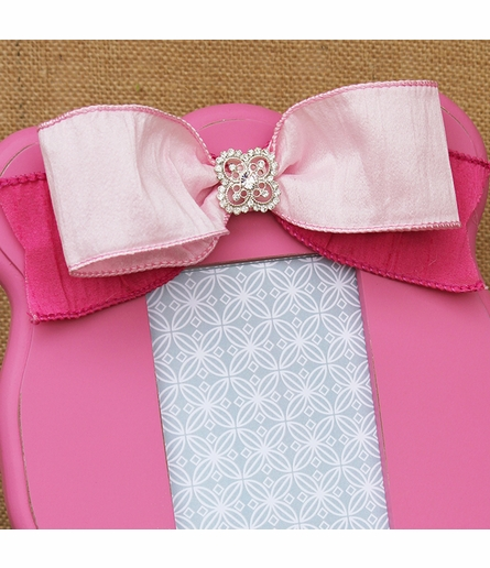 Abigail Pink Scalloped Picture Frame