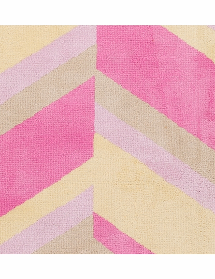 Abigail Slanted Stripes Rug in Pastel Pink