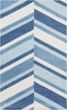 Abigail Slanted Stripes Rug in Sky Blue