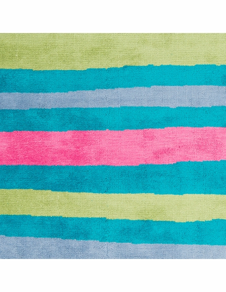 Abigail Striped Rug in Aqua and Apple
