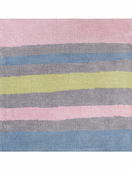 Abigail Striped Rug in Carnation