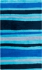 Abigail Striped Rug in Cobalt