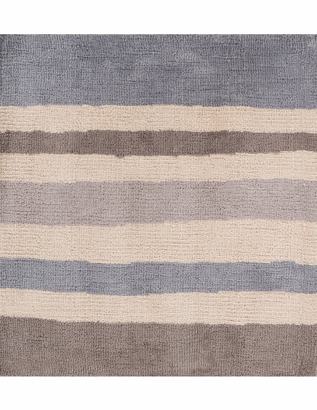 Abigail Striped Rug in Gray