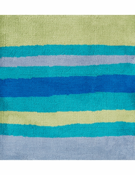 Abigail Striped Rug in Lime