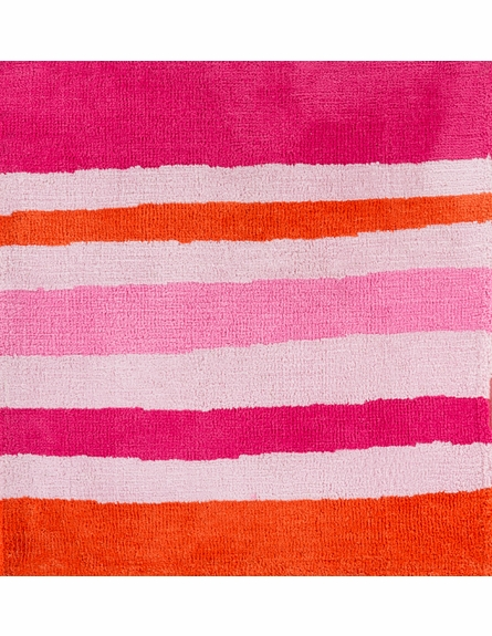 Abigail Striped Rug in Magenta