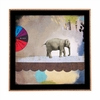 Abstract Circus Elephant Framed Wall Art