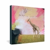 Abstract Giraffe Wrapped Canvas Art