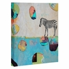 Abstract Zebra Wrapped Canvas Art