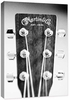 Acoustic Guitar Head Stock Canvas Reproduction