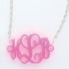 Acrylic Floating Monogram Sterling Silver Bracelet