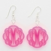 Acrylic Flourish Monogram Earrings