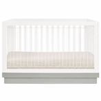 Acrylic Harlow 3-in-1 Convertible Crib with Toddler Rail