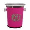 Acrylic Ice Bucket with Pink Monogram Neoprene Sleeve