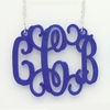 Acrylic Large Floating Monogram Necklace
