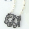Acrylic Monogram Pearl Silver-Plated Necklace