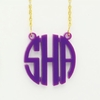 Acrylic Small Circle Monogram Necklace