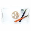 Acrylic Tray with Handles and Gold Monogram