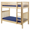 Tall Slatted High Bunk Bed