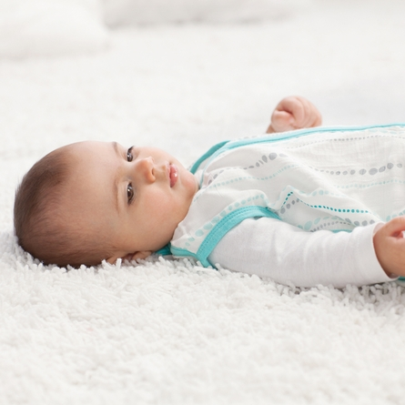 aden + anais Azure Bamboo Sleeping Bag in Bead