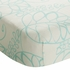 Bamboo Crib Sheet in Azure Leafy
