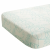 On Sale Bamboo Crib Sheet in Azure Leafy
