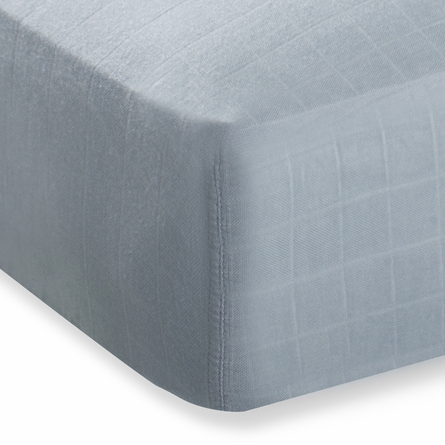 aden + anais Bamboo Crib Sheet in Moonlight Solid Grey
