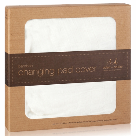 aden + anais Changing Pad Cover in Earthly White