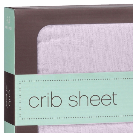 aden + anais For the Birds Solid Pink Crib Sheet