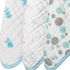 aden + anais Hide and Seek Washcloth 3-Pack in Blue
